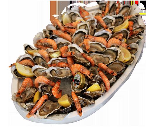 Grand plateau d'huitres et de fruits de mer - Le Cabanon Toulouse - La Cabane - Huîtres